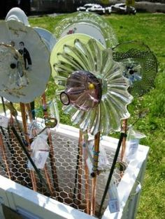 Recycled lawn ornaments