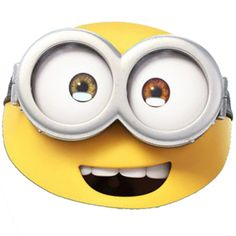 Minions Bob Mask - Kids Party Masks (each): Minion Movie, Minion Party, Funny Minion, Minions Fancy Dress, Minion Mask, Minions Bob, Cardboard Mask, Girl Minion, 5th Birthday Party Ideas