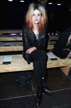 saint laurent summer 2013 | Alison Mosshart attends the Saint Laurent Spring / Summer 2013 show as ...