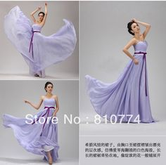Light purple long design elegant costume bridesmaid dress slim tube top princess on AliExpress.com. $50.00