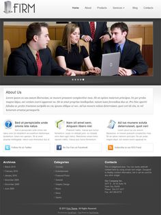 Simple small business style premium WordPress Theme from Flexi Themes.