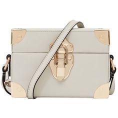 Reiss Effren Box Shoulder Bag, Cream (3485415 BYR) ❤ liked on Polyvore featuring bags, handbags, shoulder bags, borse, bolsas, purses, 100 leather handbags, real leather handbags, reiss and leather shoulder handbags