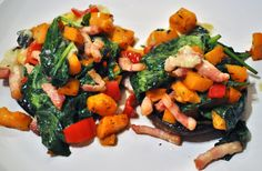 A 'rustic' recipe packed full of veggies meaning that you are well on your way to meeting your Portobello, Stuffed Mushrooms, Veggies, Cooking Recipes, Lunch, Entertaining, Rustic, Ethnic Recipes, Sweet