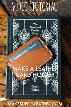 Make a high quality 3 pocket leather card holder. Digital template comes with a full HD build along video and complete list of tools used! Leather Gifts, Leather Craft, List Of Tools, Fathers Day Presents, Cork Fabric, Leather Pattern, Leather Wallets, Leather Projects, Leather Working