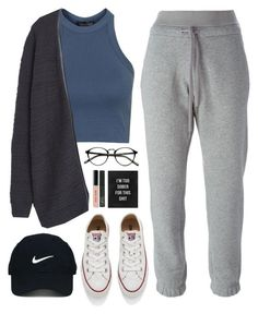"""""""Too sober for this"""" by sharinganjea ❤ liked on Polyvore featuring Topshop, Converse, adidas, MANGO, Nike Golf, NARS Cosmetics and Bobbi Brown Cosmetics"""