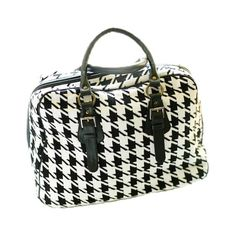 I pinned this Houndstooth Suitcase Bag in Black from the Darzzi event at Joss and Main!