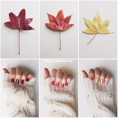 Today we inspired by taking a walk outside. See our favorite fall mani colors and links here!