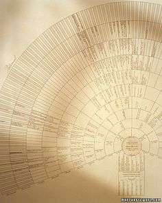 Family Fan Chart  A family tree can be a beautiful work of art as well as an informative genealogical record. This  printable fan chart plots ascendant lineage, meaning that they begin by charting the present generation at the bottom and expand upward to the seventh generation as they go back in time