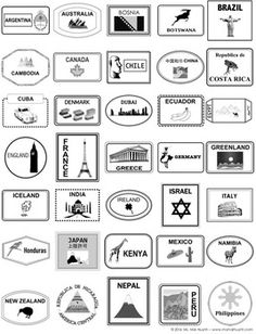 Passport Template by Mai Huynh Passport Template, Passport Stamps, Travel Stamp, Passport Travel, Travel Packing, Holidays Around The World, Around The Worlds, Passports For Kids, Social Studies Activities