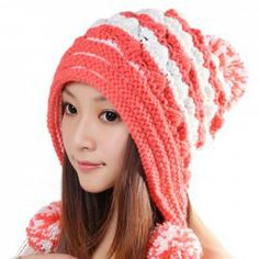 $5.79 Cute Little Ball Embellished Knitted Bomber Hat For Winter For Women