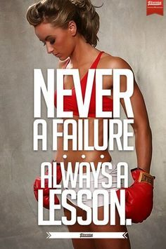 There's no such thing as failure. We all learn from mistakes and we grow upon the lessons we learn!