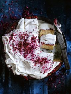 Lemon And Raspberry Three Milk Cake | Donna Hay