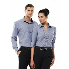 Need Edge Mens Long Sleeve Shirts? Browse Online with Clothing Direct NZ to Find the Perfect Shirt to Suit Your Needs. Corporate Uniforms, Staff Uniforms, 3 4 Sleeve Shirt, Long Sleeve Shirts, Denim Button Up, Button Up Shirts, Embroidery Designs, Promotional Clothing, Shirt Outfit