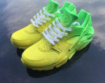 "Custom Nike Huarache Run ""Clean Sprite"""