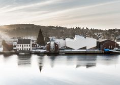 An aluminium-clad museum of maritime history in Norway with a zigzagging profile