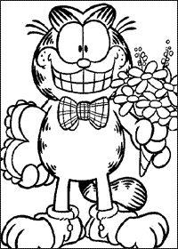 garfield coloring pages - Garfield Coloring Pages