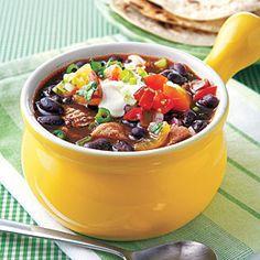 Black Bean Soup with Shredded Pork | MyRecipes.com