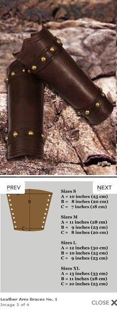 Leather Arm Braces No. 1 from Yourdressmaker for $52.00. Finally! A simplistic leathergoods woodland bracers, with the professional sizing options I've seen in the faire artisan stands. For an extremely reasonable price. Comes in dark brown or black.