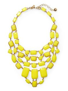 Kate Spade yellow statement necklace! Beautiful!