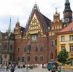 Breslau (Wroclaw), am Rathaus (Ratusz)