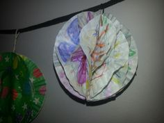 Ball ceated with my daughter's art work on plain cupcake sheets