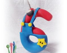 Vela 6 anos Mario Bros pavio magico
