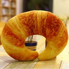 Food Simulation Cushion/ Neck Pillow (Chilli/ Croissant/ Shrimp)