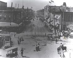 Downtown Waco. Don't know the year