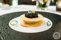 Langoustine tartare at Scallop tartare with black truffle at Petrossian in NYC, New York