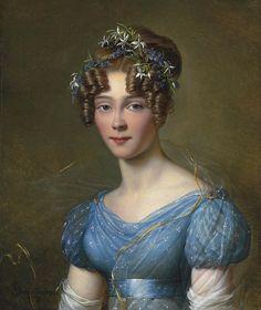 Alexandre-Jean Dubois-Drahonet (1791-1834) —  Portrait of Amélie du Bois,1821.