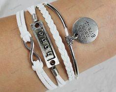 "hope &""never give up""bracelets -siliver bracelets"" bracelets-personalized Mom children gift,friendship gifts family gifts 206"