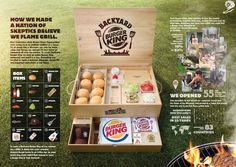 Backyard Burger, Mad Ads, Clever Advertising, Concept Board, Design Reference, Cannes, Campaign, Branding, Layout