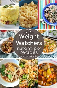 27 Amazing Weight Watchers Instant Pot Recipes to Make! - 27 Amazing Weight Watchers Instant Pot Recipes to Make! I love Weight Watchers and I love my Instant Pot. Here are some delicious Weight. Weight Watcher Dinners, Plats Weight Watchers, Weight Watchers Chicken, Weight Watchers Diet, Best Instant Pot Recipe, Instant Pot Dinner Recipes, Instant Recipes, Ww Recipes, Soup Recipes