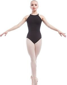 HDW DANCE Womens Basic Dance Crop Top Sleeveless Cotton Spandex