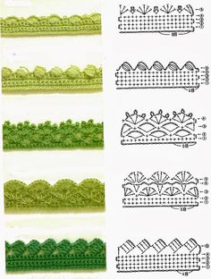 ... Crochet - Edging on Pinterest Crochet edgings, Crochet borders and