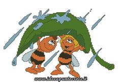 ape maia e willy punto croce