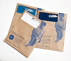 T shirts wrapped in recycled paper instead of plastic. Inks are natural and chemical free.
