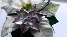 "Artclay Christmas flower: ""Flores the Noche Buena"" made of 20 gram Artclay Silver November November, Create, Flowers, Silver, Christmas, Decor, Art, Yule, Decoration"