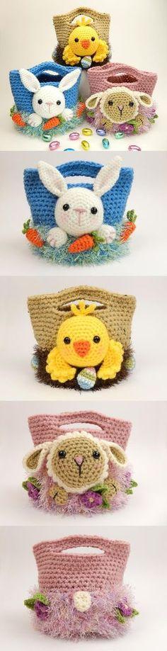 Easter Treat Bags Crochet Pattern                                                                                                                                                                                 More