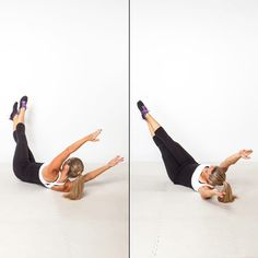 Mastered the V-sit (aka boat pose)? Try the even more challenging V-rock instead!