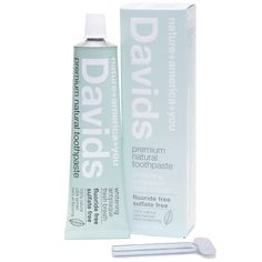 Davids Natural Toothpaste is an all natural whitening and anti-plaque toothpaste is fluoride free as well as sulfate free. Natural mint oil leaves you with fresh breath. Coffee Mask, Best Natural Toothpaste, Best Toothpaste, Home Remedies For Hair, Thing 1, David, Natural Beauty Tips, Organic Beauty, Beauty Products