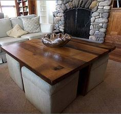 Delicieux Coffee Table Tables With Ottomans Underneath Interior