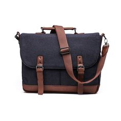 Wool Messenger Bag with Padded Laptop Holder by SomethingStrong