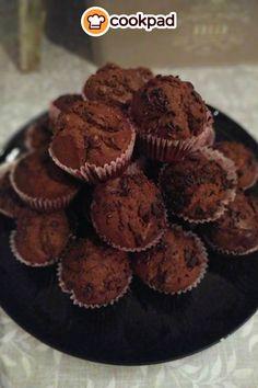 #Συνταγή για #σοκολατένια #μάφινς με #καφέ. #recipes #muffins #chocolate #coffee #breakfast