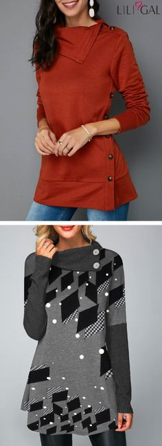 Time to add some streamlined style to your wardrobe with these casual hoodies&sweatshirts from Liligal, warm and comfy, these stylish finds are effortless looks for chilly day life. Shop now~ Casual Outfits, Cute Outfits, Fashion Outfits, Womens Fashion, Shirt Makeover, Couture, Hoodies, Sweatshirts, Autumn Winter Fashion