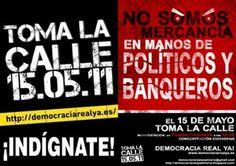 Carteles Movimiento 15 M - Indignados  http://runrun.es/wp-content/uploads/2011/10/movimiento-15m-lemas-del-movimiento.jpg