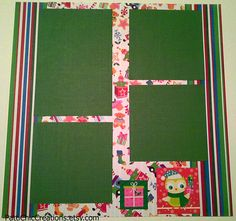 Christmas Pre-Made 12x12 Page Scrapbook Happy Holidays
