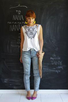 Jeans destroyed  http://www.derepentetamy.com/2014/12/05/look-dia-jeans-rasgado/  Blog De repente Tamy | Moda, beleza e look do dia todos os dias! | www.derepentetamy.com