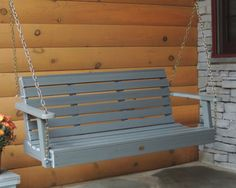 This elegant and hand-crafted Weatherly Porch Swing in Coastal Teak by Highwood offers low-maintenance beauty with its traditional horizontal slat seat back design. Available in both a 4' and 5' width                                                                                                                                                      More