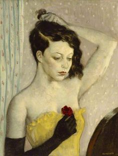 portrait by Rex Whistler of Lady Caroline Paget, Girl with Red Rose 1935 Whistler, A4 Poster, Tate Gallery, Lady, Portraits, Portrait Paintings, Artist Life, Art Uk, Art For Art Sake